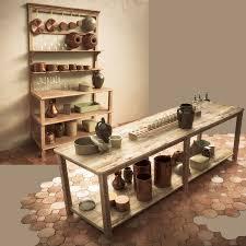 vintage wooden kitchen table 3d cgtrader