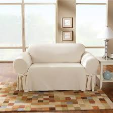 Sofa Slipcovers Sure Fit Cotton Sailcloth Sofa Slipcover Natural Sure Fit Target
