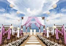 beach wedding ceremony decoration idea decorating of party within
