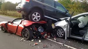 crashed red lamborghini 25 most funniest car crash pictures that will make you laugh