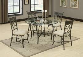 glass kitchen table sets of unique lovely round glass dining table