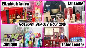 holiday beauty box 2015 estée lauder lancôme elizabeth arden