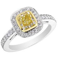 canary engagement ring fancy canary yellow engagement ring 1 5 carat ctw