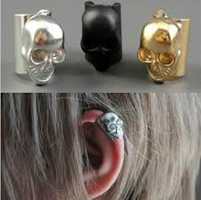 skull ear cuff for skull ear earrings view skull ear