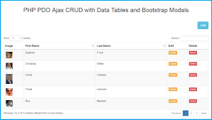 Bootstrap Table Width Php Pdo Ajax Crud With Data Tables And Bootstrap Modals Webslesson