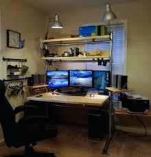 Computer Desk For Multiple Monitors Three Monitor Computer Desk U2013 Viscometer Co