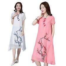 online get cheap white linen women dress aliexpress com alibaba