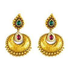 antique gold jhumka earrings antique gold jhumka gold jhumkas mahal jaipur yagna jewels