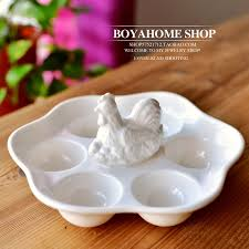 ceramic egg holder tray white ceramic egg plate porcelain egg tray container storage