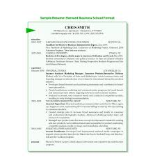 harvard resume format harvard business resume template