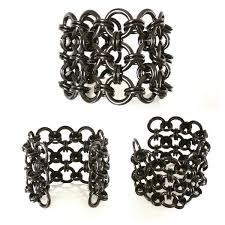 cuff bracelet jewelry images Buy modernist black chainmail cuff bracelet at jewelry bubble for JPG