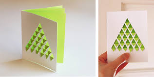 geometric christmas tree card in inspiration and ideas of cards