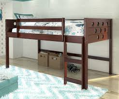 twin size circles low loft bed in cappuccino finish 780atcp