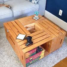 Diy Wood Crate Coffee Table by Diy Distressed Wood Crate Coffee Table U2013 Les Proomis