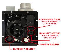 Motion Sensor Bathroom Light Buy Panasonic Whispersense Bathroom Fan With Motion Humidity