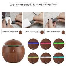 humidificateur de bureau behokic 130 ml mini portable usb bois grain sonic aromathérapie
