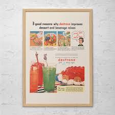 affiche cuisine retro cuisine rétro kitsch affiche ad rétro des ées 1950