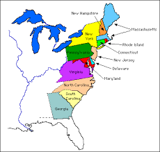 the thirteen colonies map the original 13 colonies thinglink