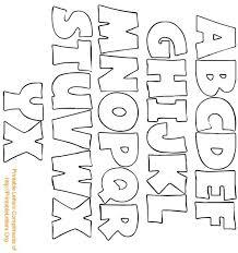 bubble letter template printable alphabet letters archives woo jr
