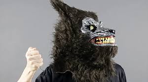 wolf mask animated wolf mask brown mr039161