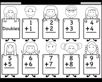 doubles addition facts worksheets addition doubles worksheet 1 1 2 2 3 3 4 4 5 5 6 6 7 7 8 8 9 9