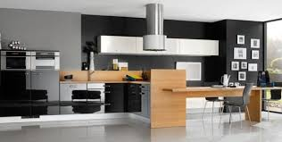 cuisine bois inox cuisine bois et inox une astucieuse hotte en forme de tuyau