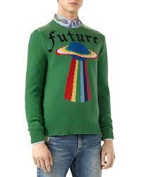 green sweater gucci future ufo wool crewneck sweater green neiman