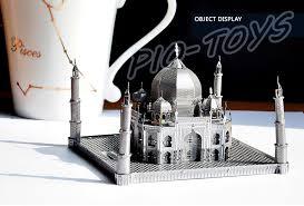 3d home kit by design works new year gift taj mahal 3d metal building model kit alloy frame