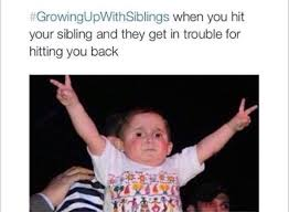 Funny Sibling Memes - growing up with siblings is the great struggle 25 photos