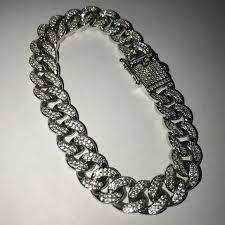 cuban bracelet images Accessories 14k white iced out miami cuban bracelet box clasp jpg