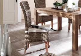 home decoration dining room wicker chair with small seat cushion