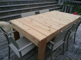 Simple Dining Table Plans White Cedar Simple Outdoor Dining Table Diy Projects