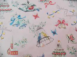 vintage wedding gift wrap religious wrapping paper one sheet