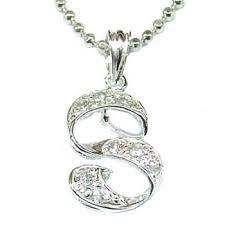 s necklace letter s cz sterling silver necklace end 4 20 2020 2 44 am