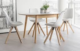 Extendable Dining Table And 4 Chairs 4 Seater Dining Set White Home Furniture Out Out Original