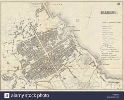 Palermo Italy Map by Palermo Antique Town Plan City Map Italy Bradshaw 1890 Stock