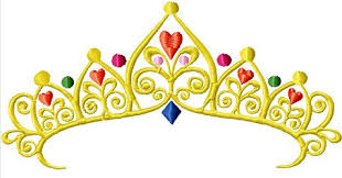 instant tiara pageant jeweled crown embroidery design