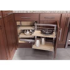 Blind Kitchen Cabinet Rev A Shelf Kitchen Blind Corner Cabinet Optimizer Maximizes In