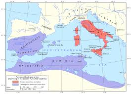 Map Rome File Map Of Rome And Carthage At The Start Of The Second Punic War