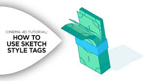 how to use sketch style tags in cinema 4d on vimeo
