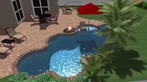 Backyard Pool Designs by Lagoon Shaped Swimming Pool Conceptual Design Youtube