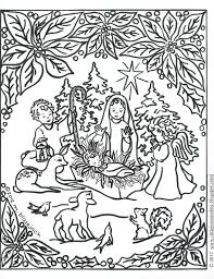 jesus and nativity coloring page catholic crafts u0026 coloring