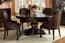 round dining table with leather chairs with design hd gallery 2733