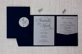 wedding invitations new zealand navy blue silver pocketfold wedding invitation be my guest