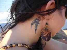 wolf tattoo behind ear 10 super cool ear tattoo designs tattoo feather tattoos and feathers