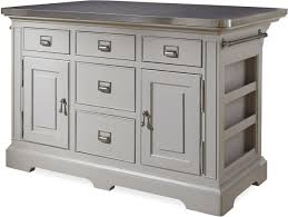 kitchen island metal the kitchen island with stainless wrapped metal top by paula deen