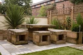Railway Sleepers Garden Ideas The Low Maintenance Garden Garden By Earth Designs Www