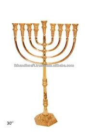 menorah candle holder solid brass temple menorah candlestick holder with gold finish