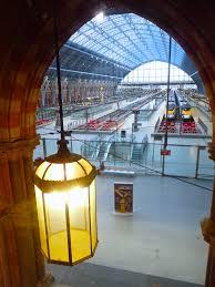 view onto railway station eurostar st pancras renaissance hotel