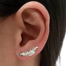 ear climber earring silver ear cuff ear climber climber earrings ear wrap